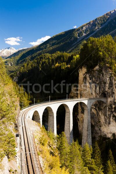 Landwasserviadukt, canton Graubunden, Switzerland Stock photo © phbcz