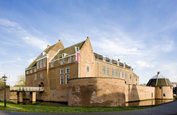 Furgon Hollandia épület épületek építészet történelem Stock fotó © phbcz