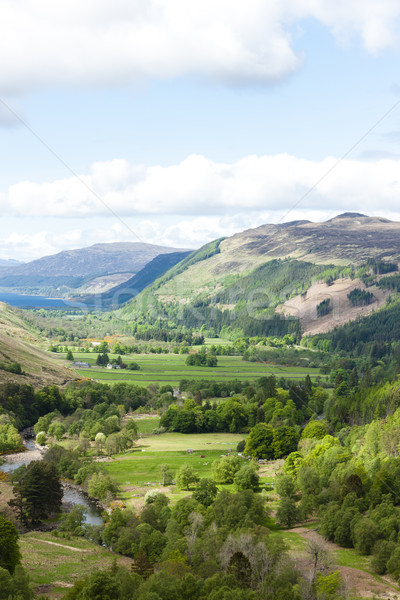view of valley with Loch Broom at background, Highlands, Scotlan Stock photo © phbcz