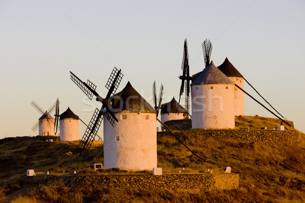 windmills, Consuegra, Castile-La Mancha, Spain Stock photo © phbcz
