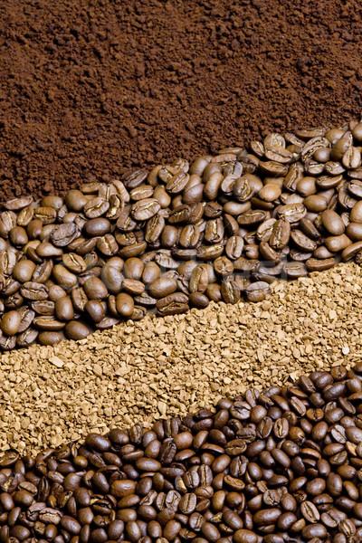 Koffie interieur dranken achtergronden grond koffiebonen Stockfoto © phbcz
