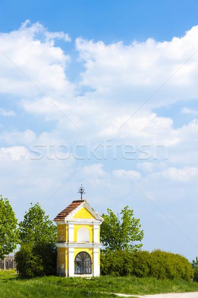 Işkence Çek Cumhuriyeti ağaç Bina mimari Avrupa Stok fotoğraf © phbcz