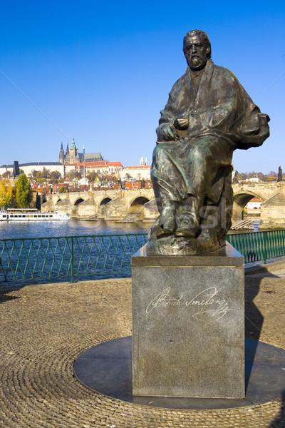 statue of Bedrich Smetana, Prague, Czech Republic Stock photo © phbcz