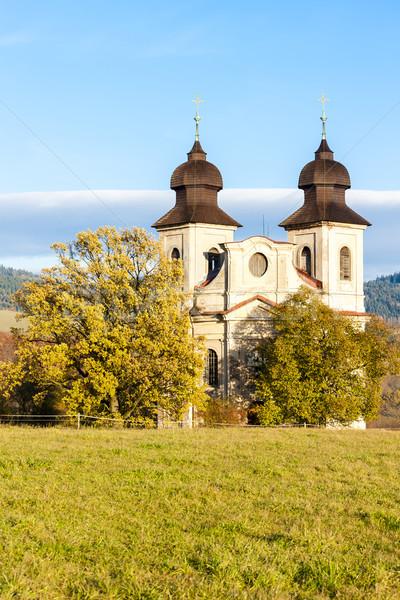 Templom szent Csehország épület építészet Európa Stock fotó © phbcz