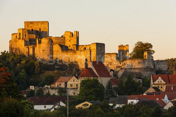 Ruínas castelo República Checa casa edifício viajar Foto stock © phbcz
