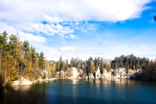 Piskovna lake, Teplice-Adrspach Rocks, Czech Republic Stock photo © phbcz
