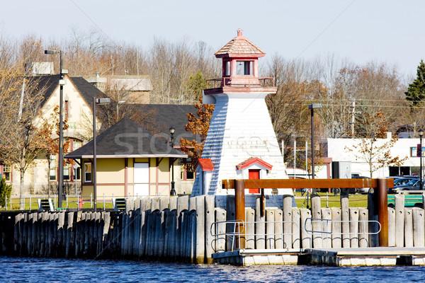 lighthouse on the Canadian border, Calais, Maine, USA Stock photo © phbcz