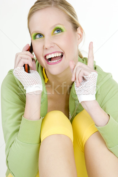 portrait of calling woman Stock photo © phbcz