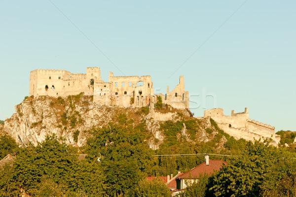 Ruínas castelo Eslováquia edifício arquitetura história Foto stock © phbcz