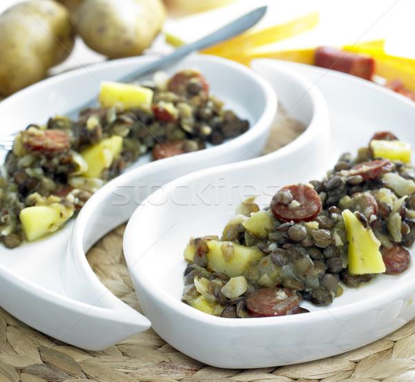картофель чоризо продовольствие овощей растительное Сток-фото © phbcz