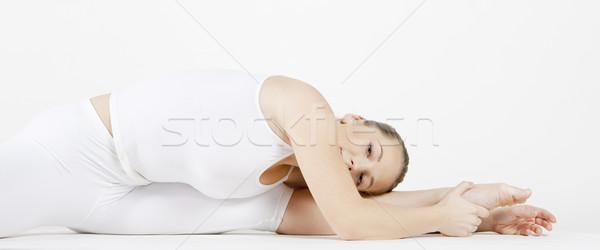 Portret balletdanser vrouwen sport fitness Stockfoto © phbcz
