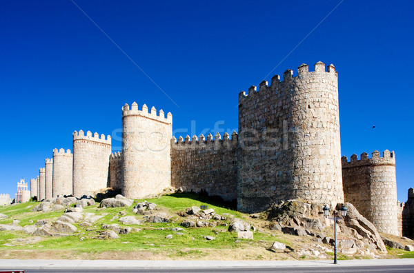 fortification of Avila, Castile and Leon, Spain Stock photo © phbcz