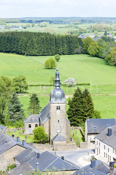 Bélgica casa iglesia viaje arquitectura pueblo Foto stock © phbcz
