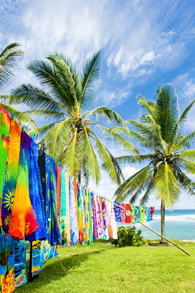 typical fabrics, Bathsheba, East coast of Barbados, Caribbean Stock photo © phbcz