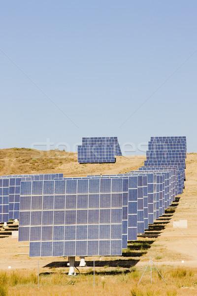 Napelemek Spanyolország technológia ipar energia erő Stock fotó © phbcz