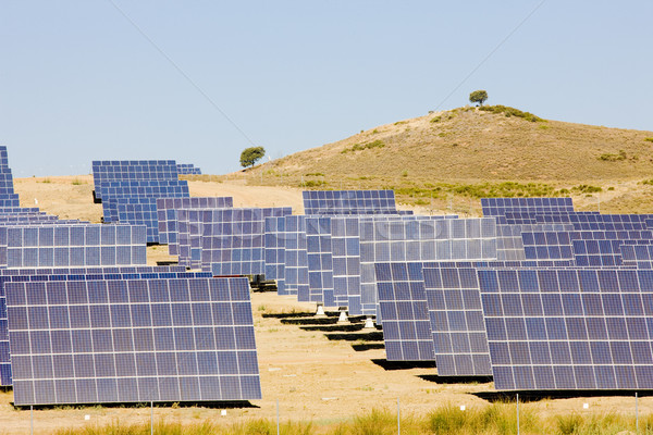 Zonnepanelen Spanje technologie industrie energie macht Stockfoto © phbcz