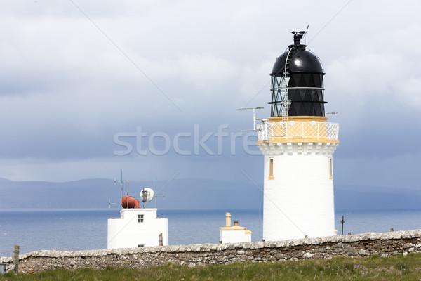 голову Маяк Шотландии здании океана Сток-фото © phbcz