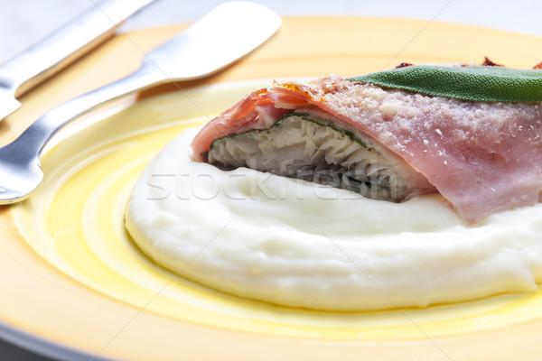 Filet truite sauge Prague jambon Photo stock © phbcz