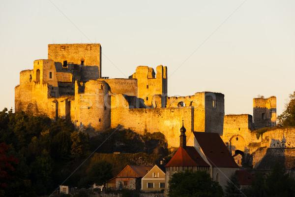 Ruínas castelo República Checa casa edifício igreja Foto stock © phbcz