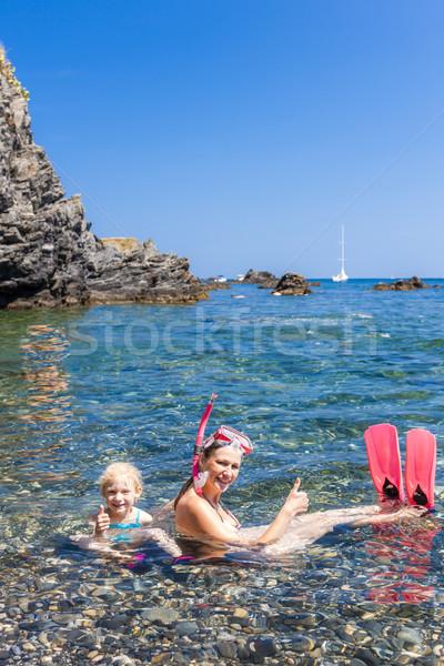 Mediterráneo mar Francia mujer verano Foto stock © phbcz