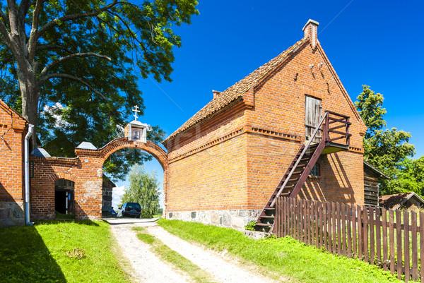 ゲート 修道院 古い 教会 アーキテクチャ 屋外 ストックフォト © phbcz