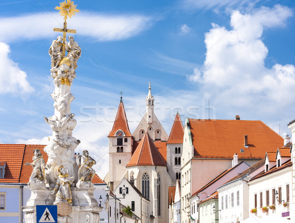 Column of Holy Trinity, Eggenburg, Lower Austria, Austria Stock photo © phbcz