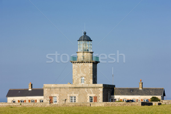 lighthouse, Cap de Certeret, Normandy, France Stock photo © phbcz