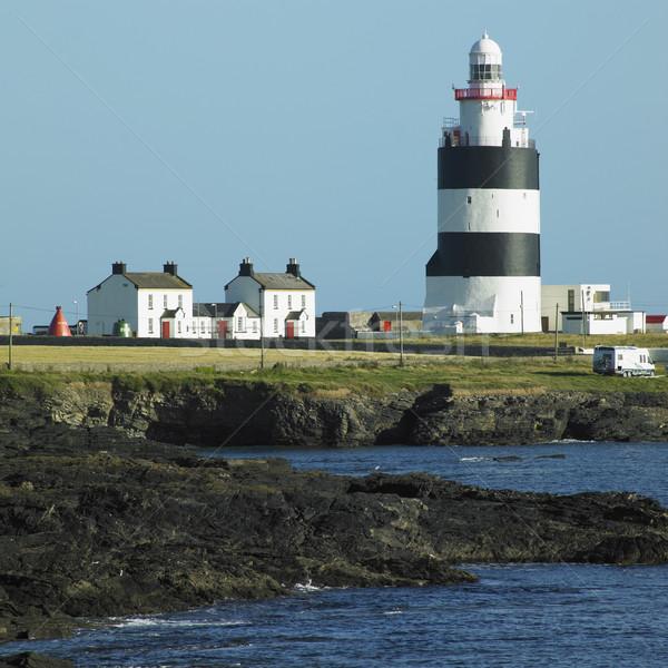 ストックフォト: 灯台 · フック · 頭 · アイルランド · 建物 · 光