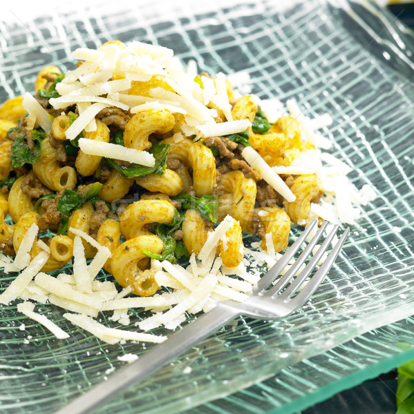 パスタ 肉 パルメザンチーズ 食品 フォーク 料理 ストックフォト © phbcz