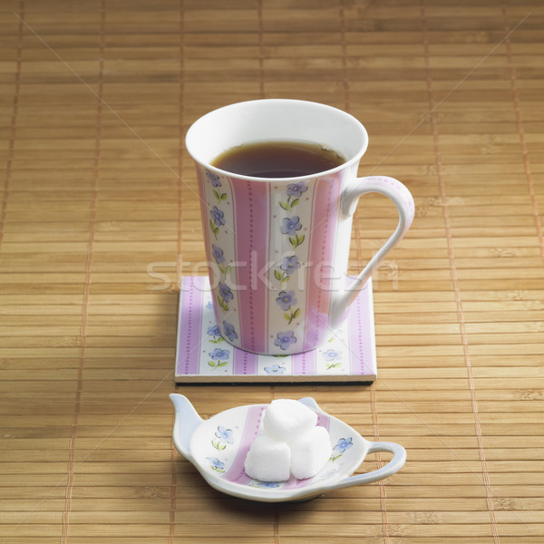 tea with sugar Stock photo © phbcz