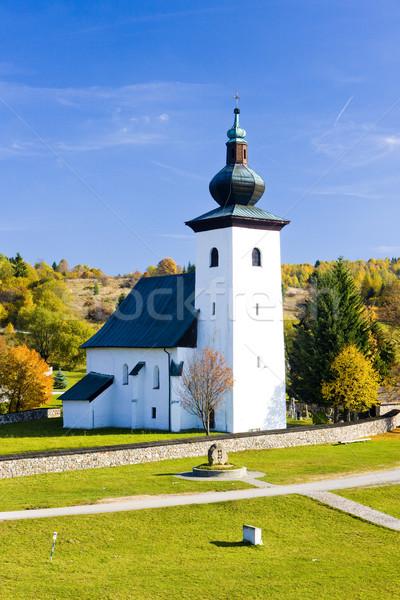 Kremnicke bane - geographica center of Europe, Slovakia Stock photo © phbcz