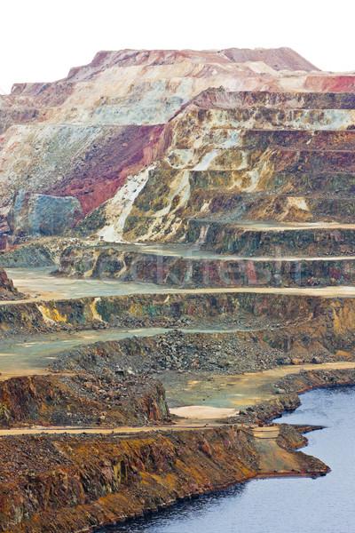 Cobre mina Espanha paisagem escada Foto stock © phbcz