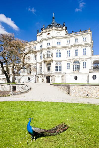 Saray Çek Cumhuriyeti Bina kuş mimari tarih Stok fotoğraf © phbcz