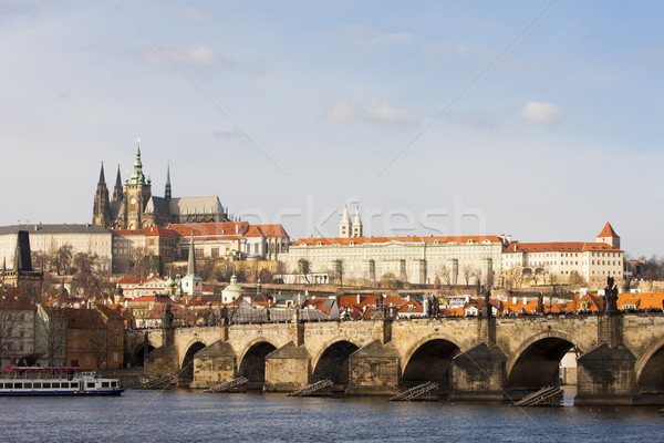 Hradcany with Charles bridge, Prague, Czech Republic Stock photo © phbcz