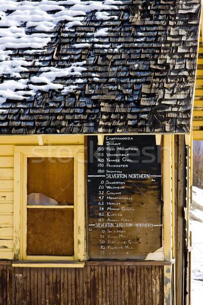 timetable, Silverton, Colorado, USA Stock photo © phbcz