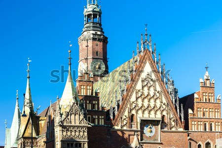 Town Hall on Main Market Square, Wroclaw, Silesia, Poland Stock photo © phbcz
