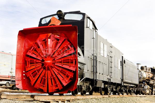 railway plough, Colorado Railroad Museum, USA Stock photo © phbcz