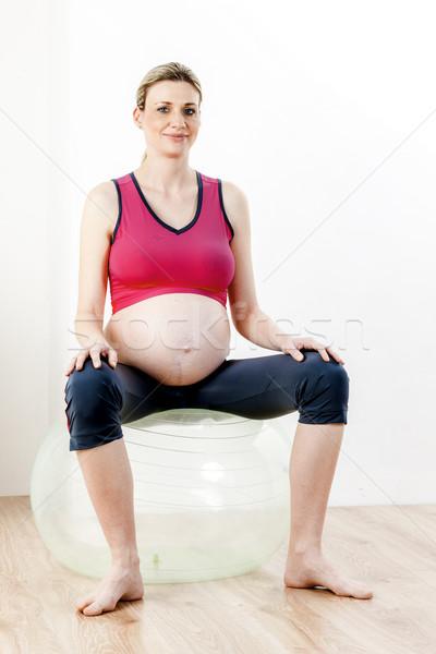 pregnant woman doing exercises Stock photo © phbcz