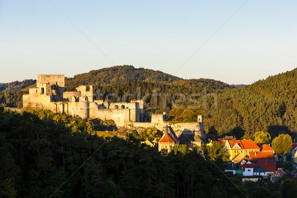 Ruines château République tchèque bâtiment village à l'extérieur Photo stock © phbcz