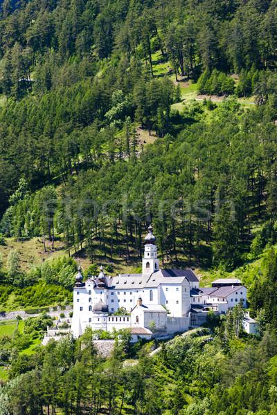 Abdij Italië architectuur religieuze buitenshuis buiten Stockfoto © phbcz