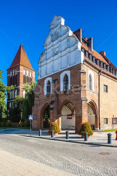 Stadhuis Polen gebouw architectuur Europa geschiedenis Stockfoto © phbcz