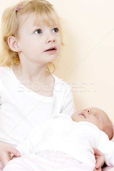 ストックフォト: 肖像 · 女の子 · 1 · 月 · 古い · 赤ちゃん