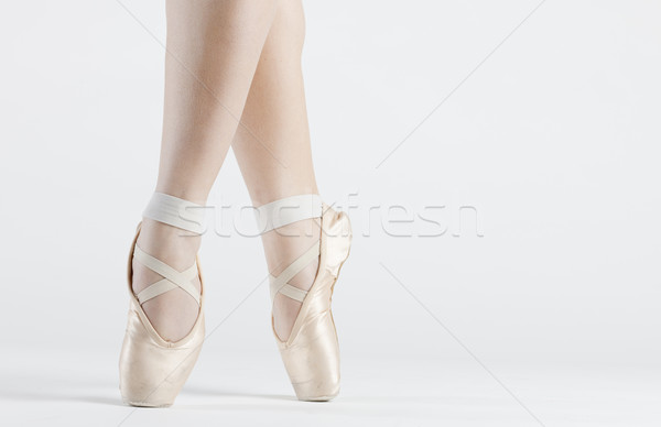 detail of ballet dancer''s feet Stock photo © phbcz