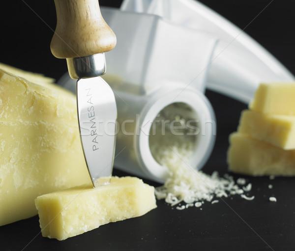 Parmesan peyniri natürmort sağlık peynir beslenme Stok fotoğraf © phbcz