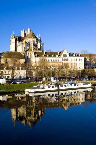 Auxerre, Burgundy, France Stock photo © phbcz