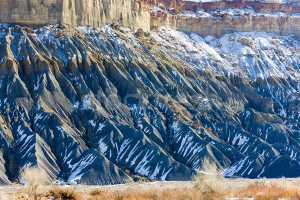 Kış manzara Utah ABD kar kaya Stok fotoğraf © phbcz