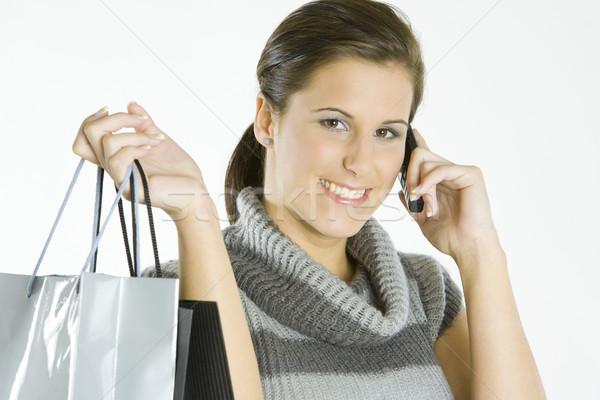 portrait of shopping girl Stock photo © phbcz