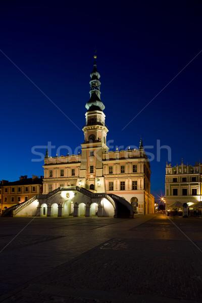 Town Hall at night, Main Square (Rynek Wielki), Zamosc, Poland Stock photo © phbcz