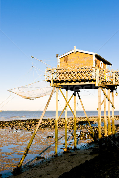 fishing house with a fishing net, Gironde Department, Aquitaine, Stock photo © phbcz