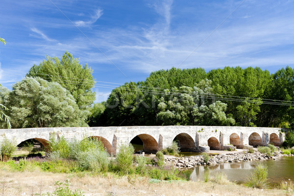 old bridge near Tordomar, Castile and Leon, Spain Stock photo © phbcz